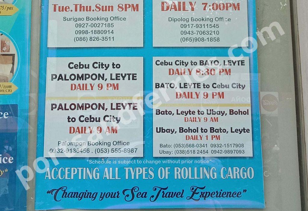 Medallion Transport Inc. Cebu-Palompon schedule