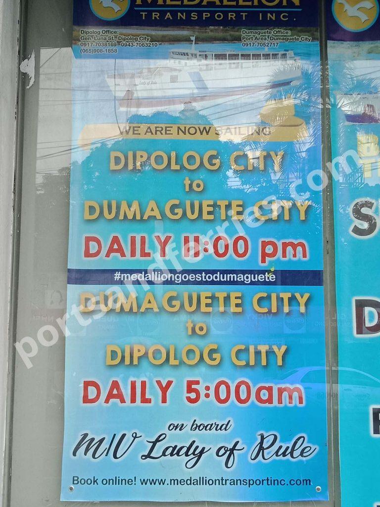 Medallion Transport Dumaguete-Dipolog schedule