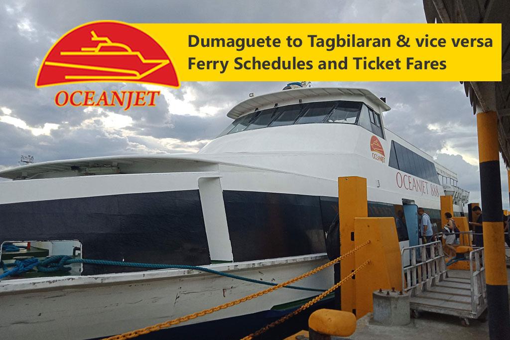 Tagbilaran to Dumaguete and v.v.: OceanJet Schedule, Fares & Booking