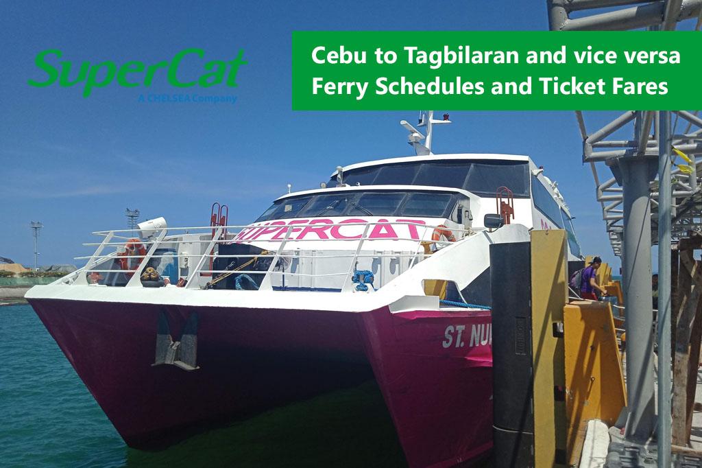 Cebu to Tagbilaran and v.v.: SuperCat Schedule, Fare Rates & Booking
