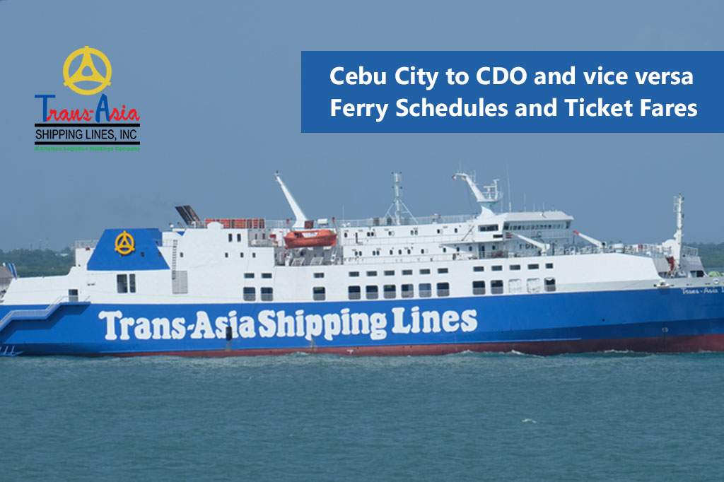 Cebu to Cagayan de Oro and v.v.: Trans-Asia Schedule & Fares