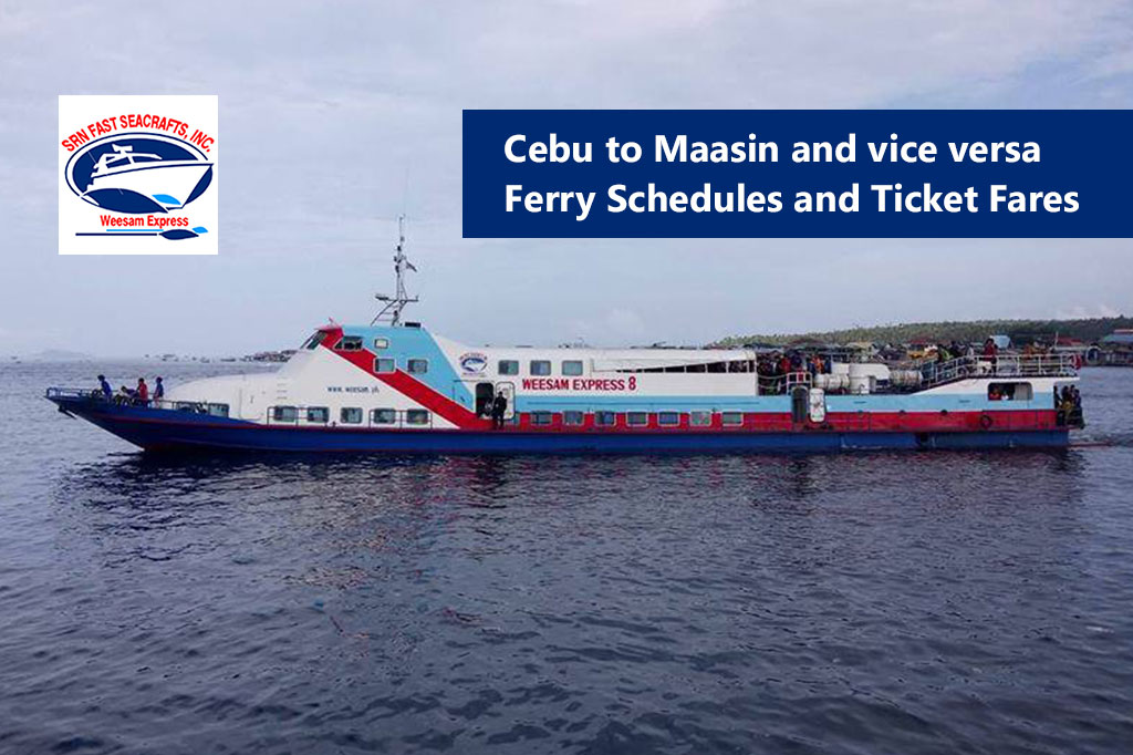 Cebu to Maasin and v.v.: Weesam Express Schedule & Fare Rates