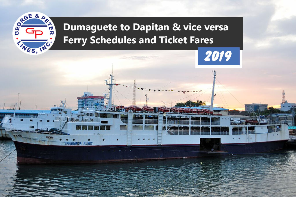 2019 George & Peter Lines Dumaguete-Dapitan Schedules and Ticket Fare