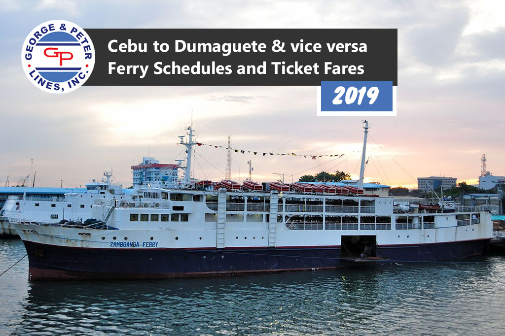 Cebu to Dumaguete and v.v.: George & Peter Lines Schedule & Fares