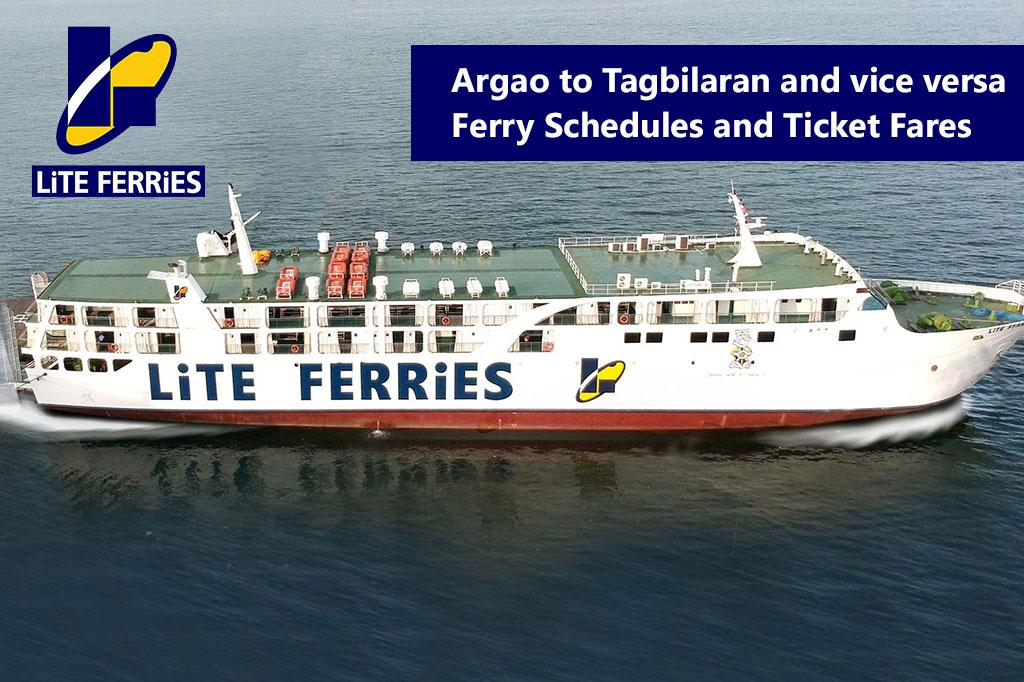 2020 Argao–Tagbilaran: Lite Ferries Schedule & Ticket Fare