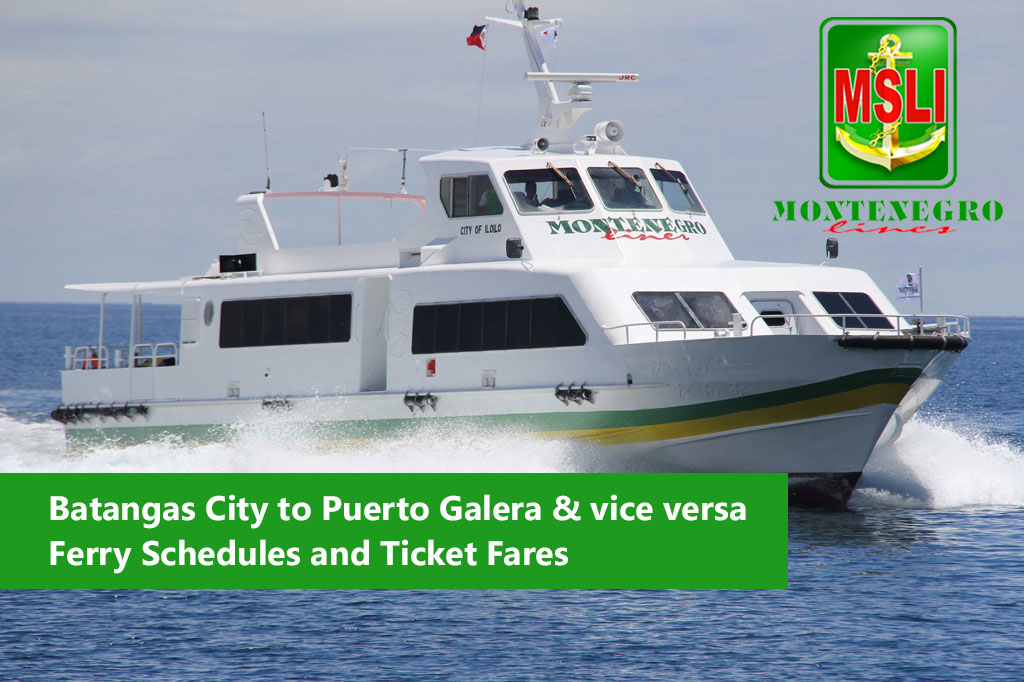2020 Montenegro Lines Batangas-Puerto Galera: Schedule, Fare and Booking