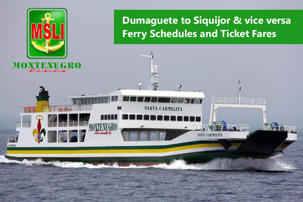 2020 Montenegro Lines Dumaguete-Siquijor: Schedule, Fare and Booking