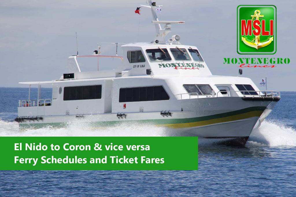 2020 Montenegro Lines El Nido-Coron: Schedule, Fare and Booking