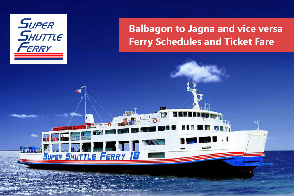 Camiguin to Jagna and v.v.: Super Shuttle Ferry Schedule & Fares