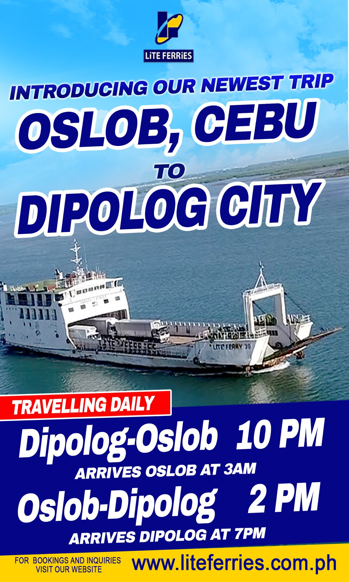 Lite Ferry Dipolog-Oslob Ferry Schedules