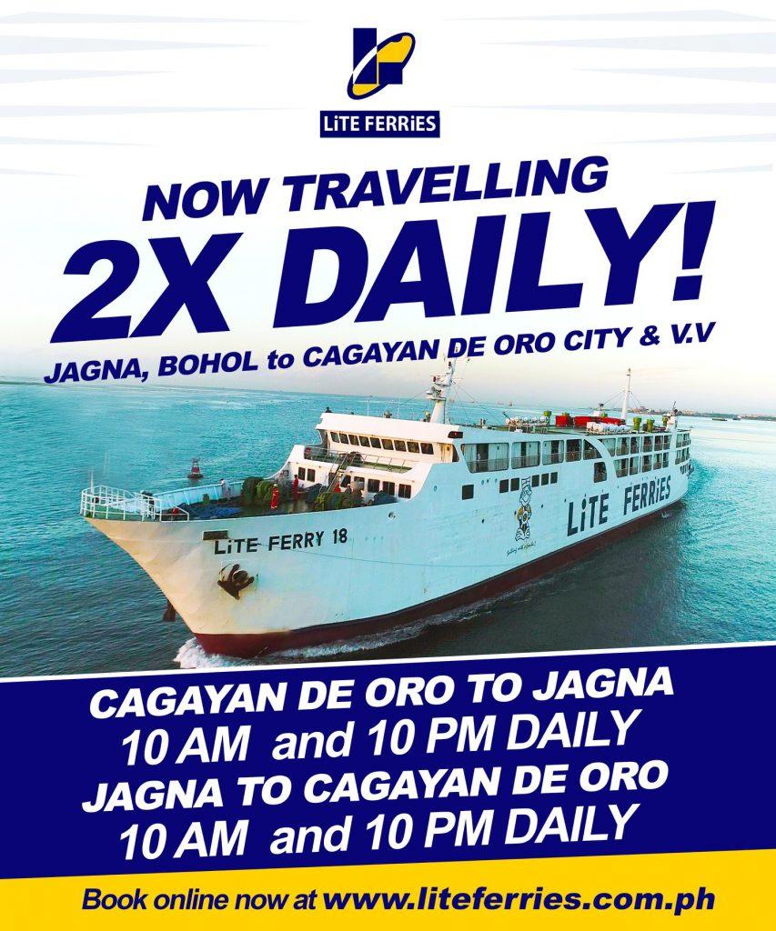 2019 Lite Ferry Jagna-Cagayan De Oro: Schedule, Ticket Fare
