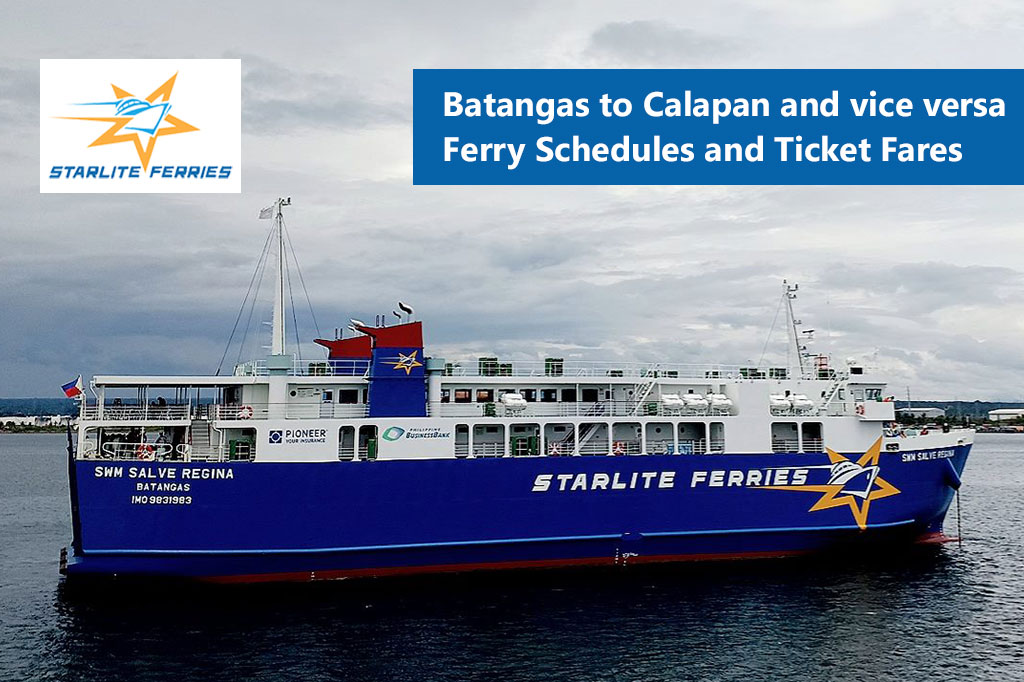 Batangas to Calapan and v.v.: Starlite Ferries Schedule & Fare Rates