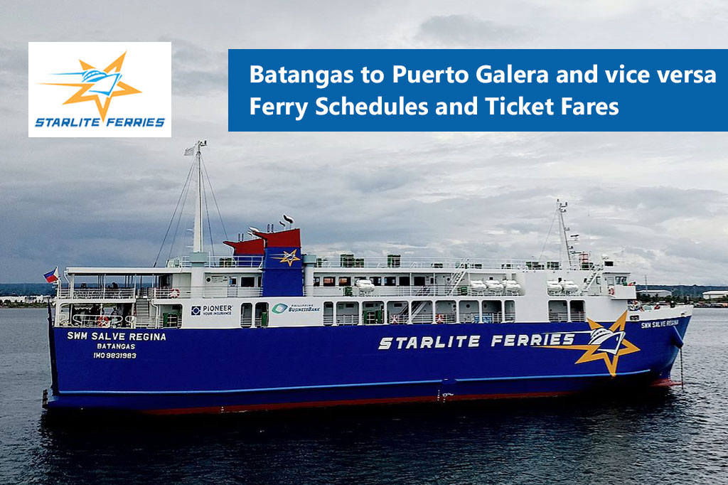 Batangas to Puerto Galera and v.v.: Starlite Ferries Schedule & Fares