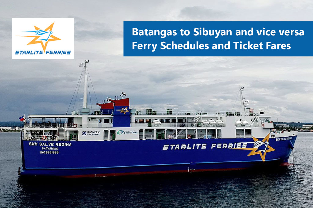 Batangas to Sibuyan and v.v.: Starlite Ferries Schedule & Fare Rates