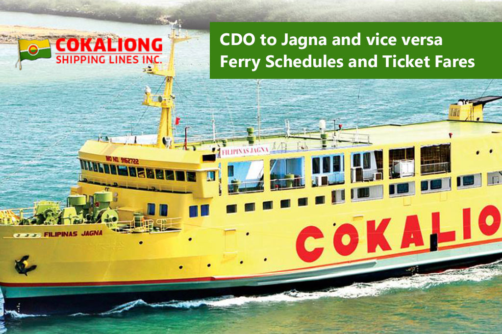 Cagayan de Oro to Jagna and v.v.: Cokaliong Schedule & Fares