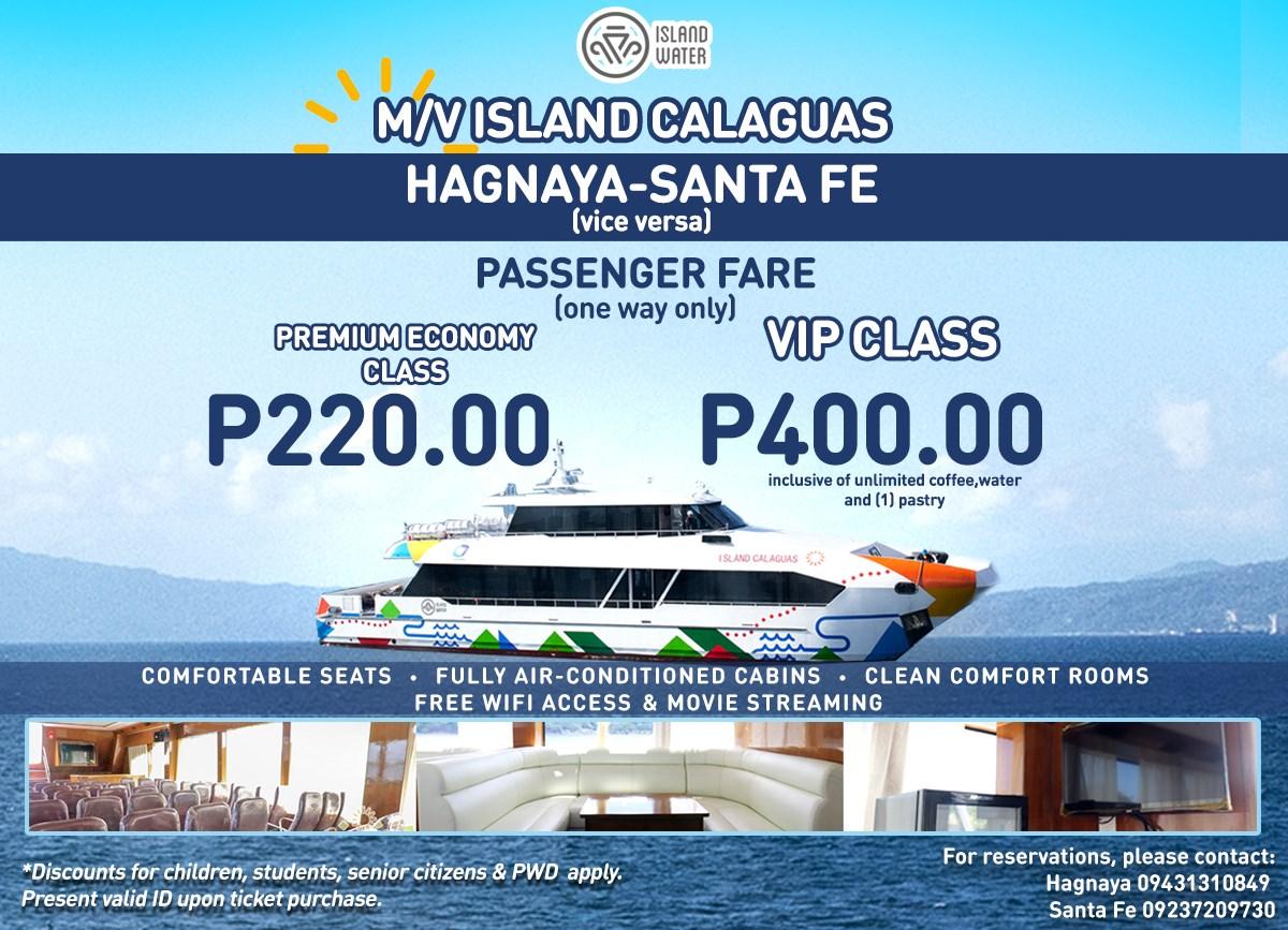 Island Water Hagnaya-Santa Fe Ferry Fare