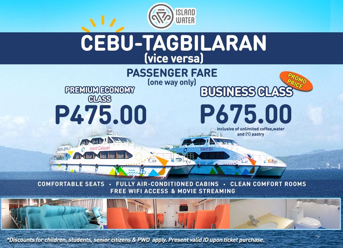 Island Water Cebu-Tagbilaran Ferry Fare