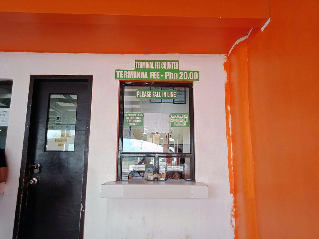 Tagbilaran Port Terminal Fee Window