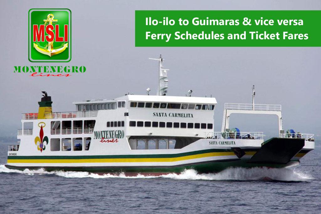 2020 Montenegro Lines Iloilo-Guimaras: Ferry Schedules and Fares