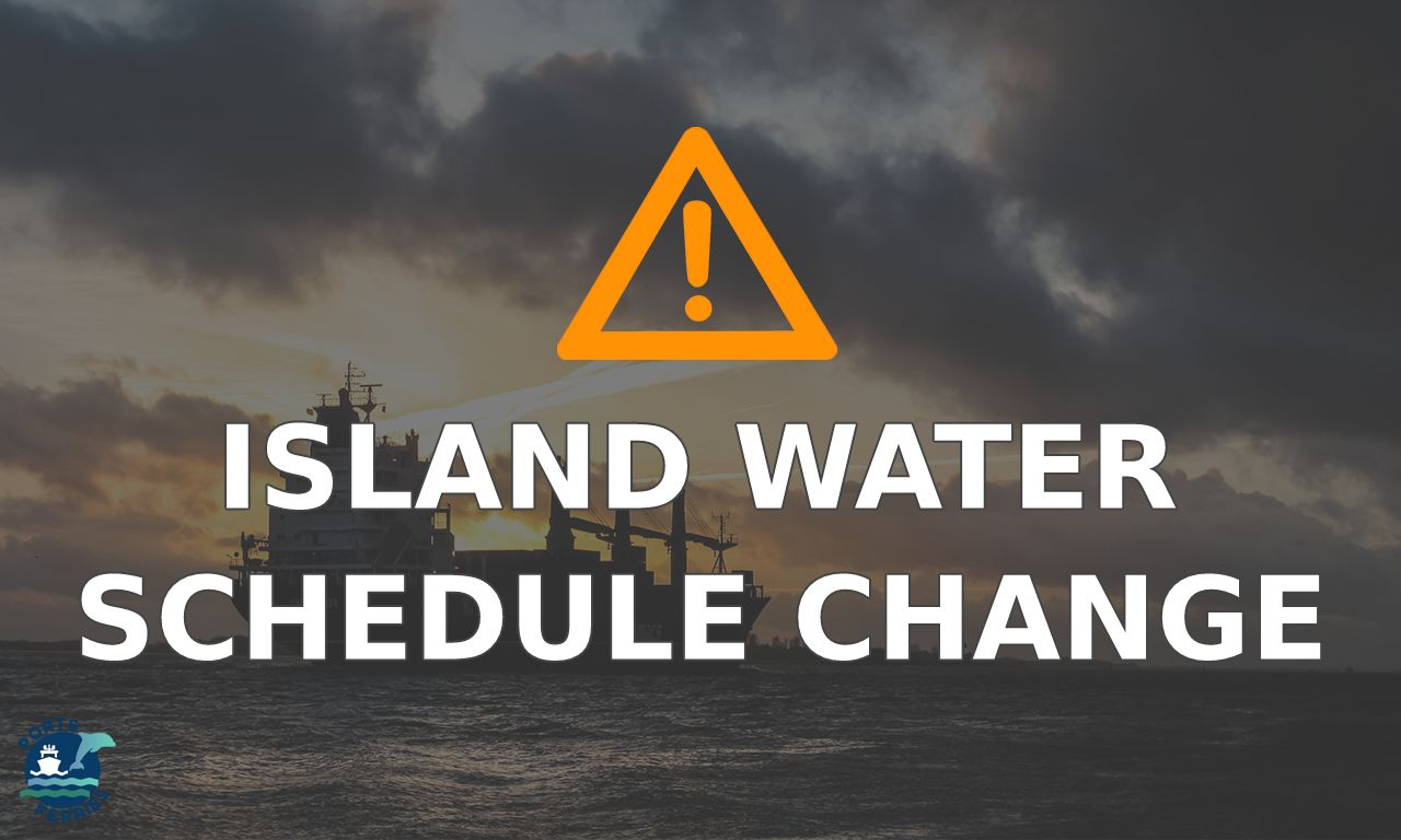 Island Water Travel Advisory: Special schedule for September 20