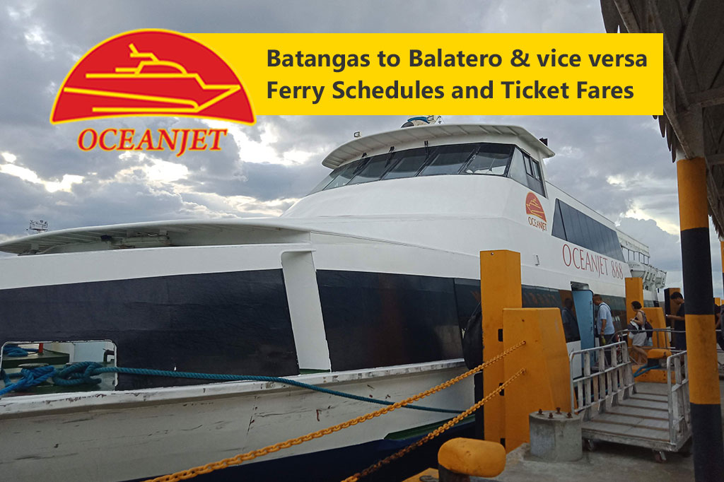Batangas to Balatero and v.v.: OceanJet Schedule, Fares & Booking