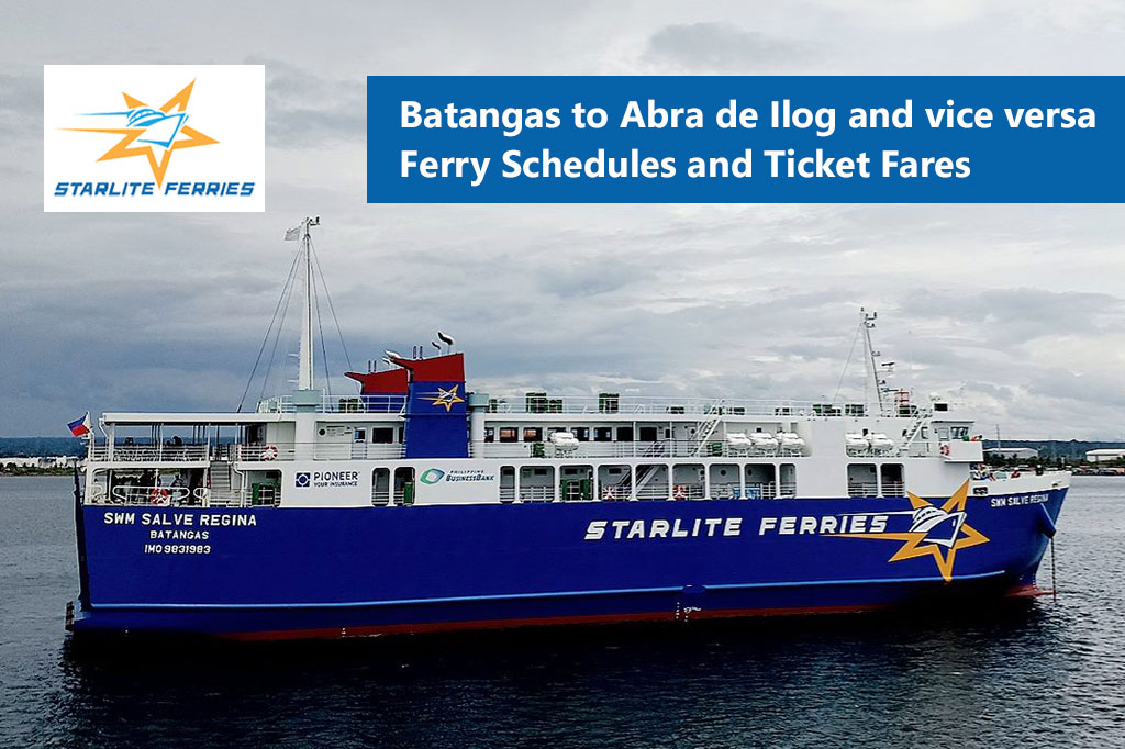 Batangas to Abra de Ilog and v.v.: Starlite Ferries Schedule & Fares