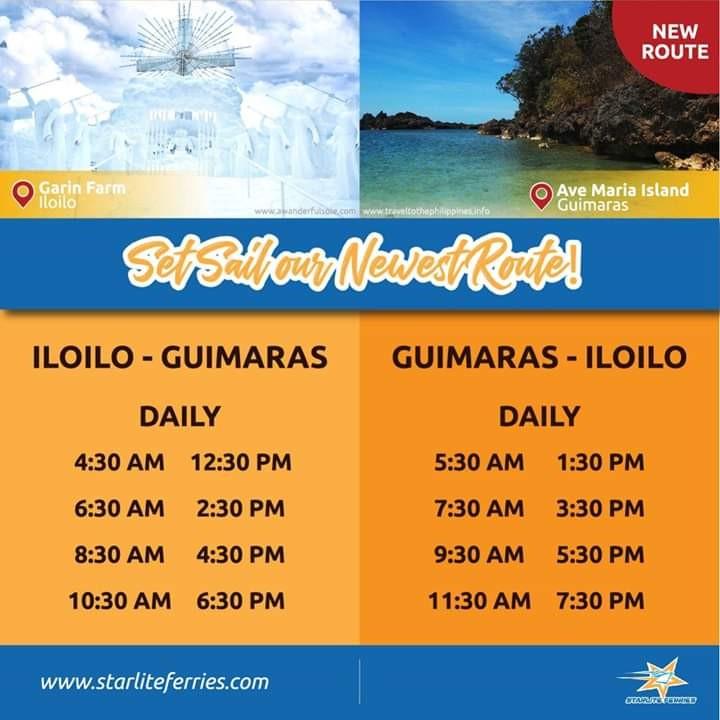 Starlite Ferries Iloilo-Guimaras Schedule