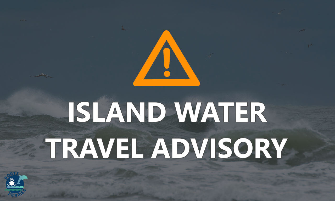 Island Water: Canceled trips today due to Gale Warning