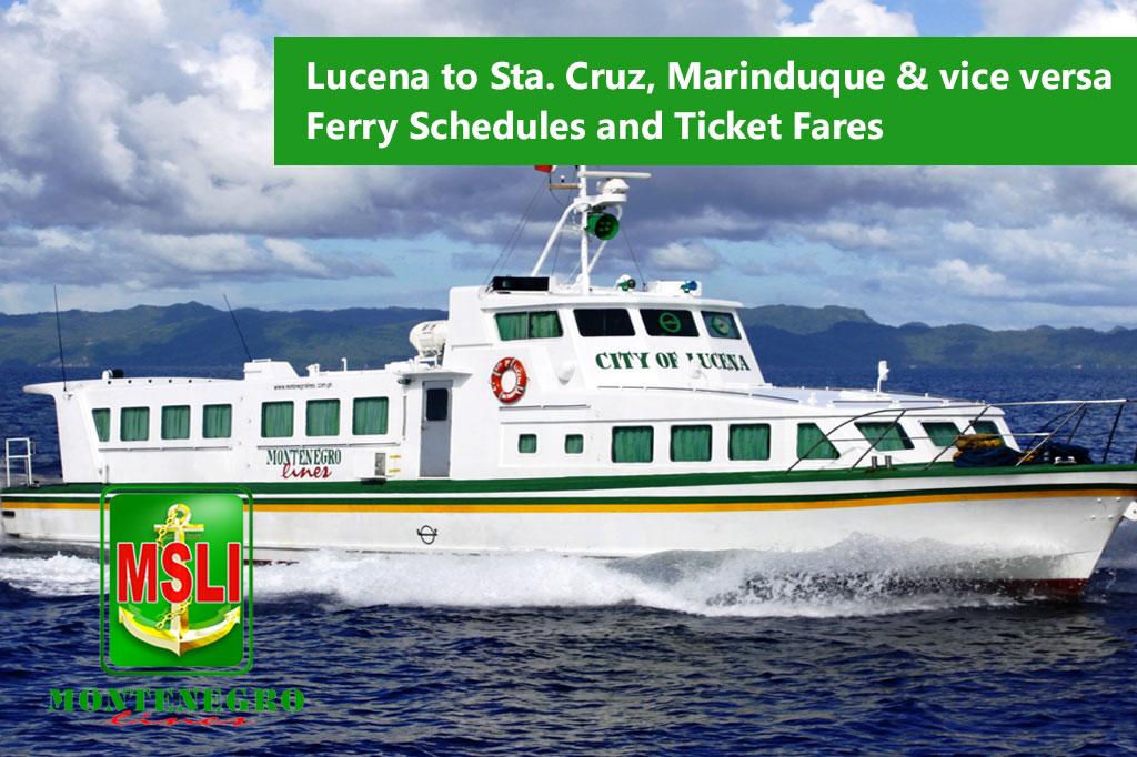 2020 Montenegro Lines Lucena-Santa Cruz: Schedule, Fares & Booking