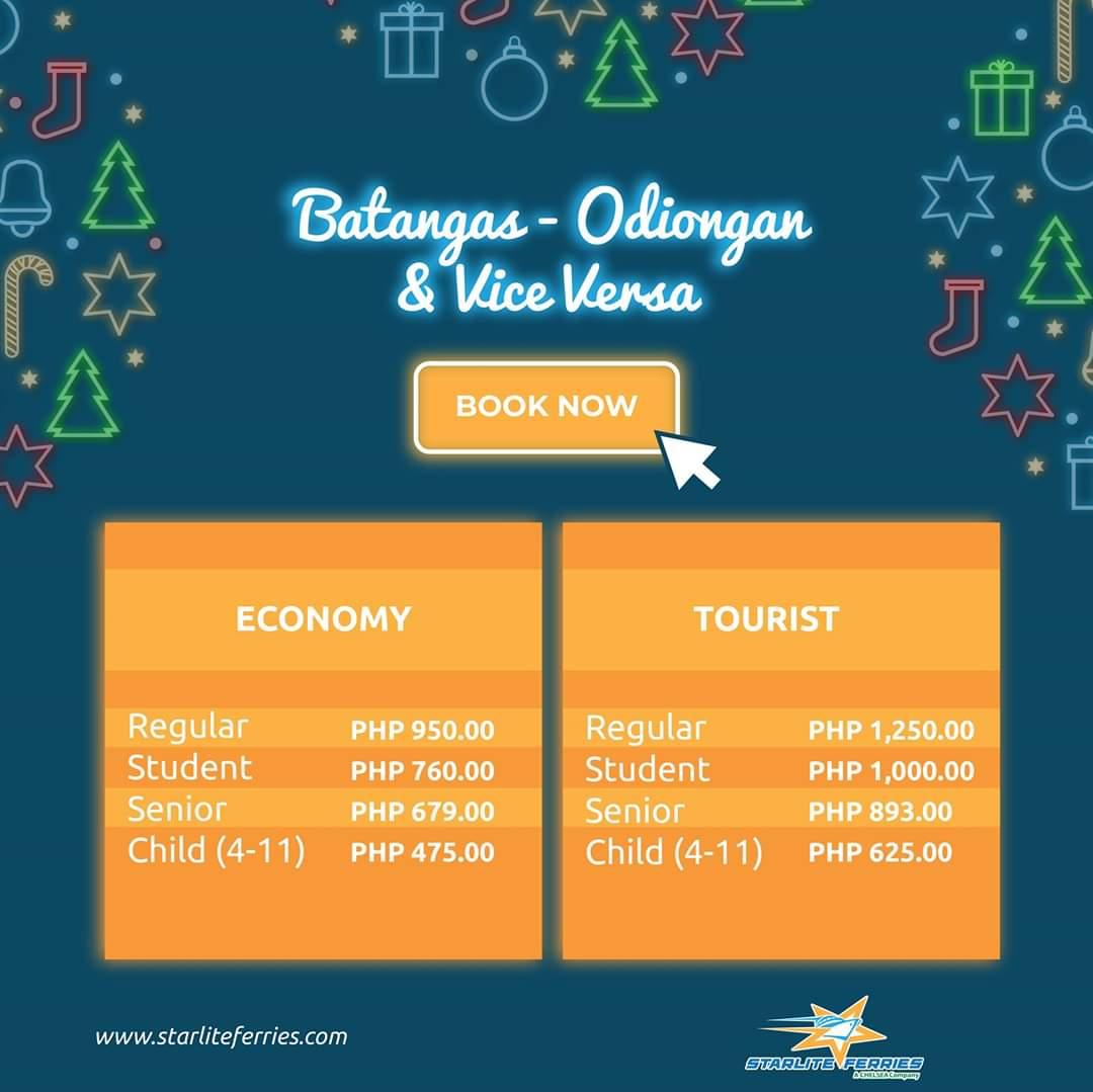 Starlite Ferries Batangas-Odiongan Fare Rates