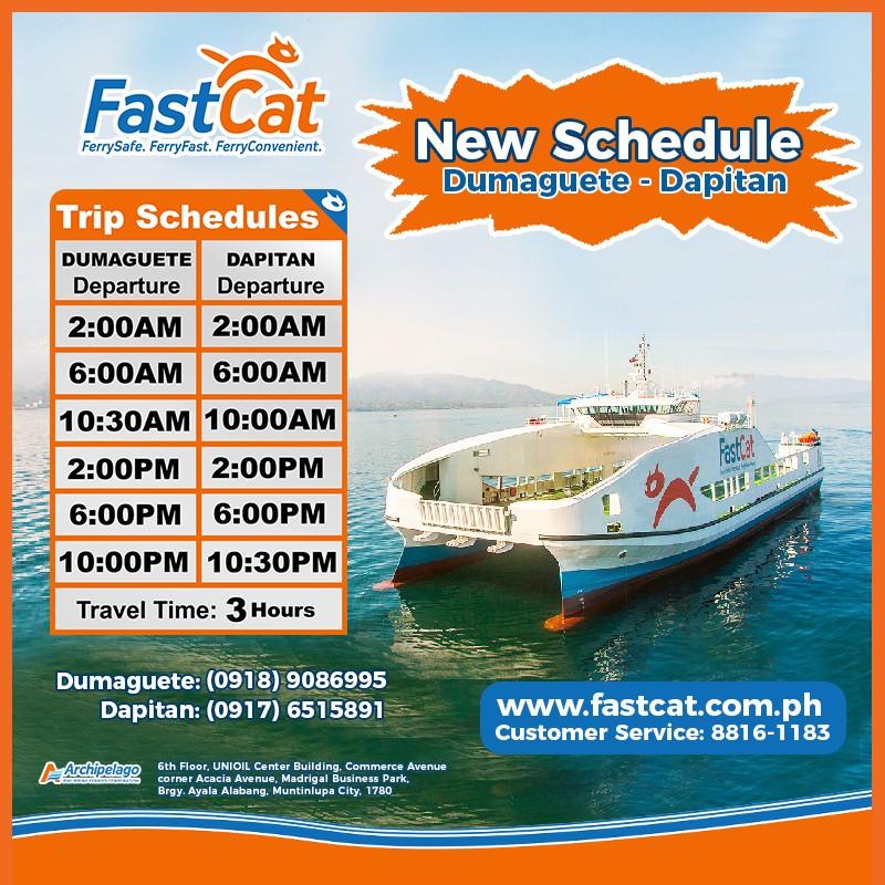 FastCat Dumaguete-Dapitan Ferry Schedule