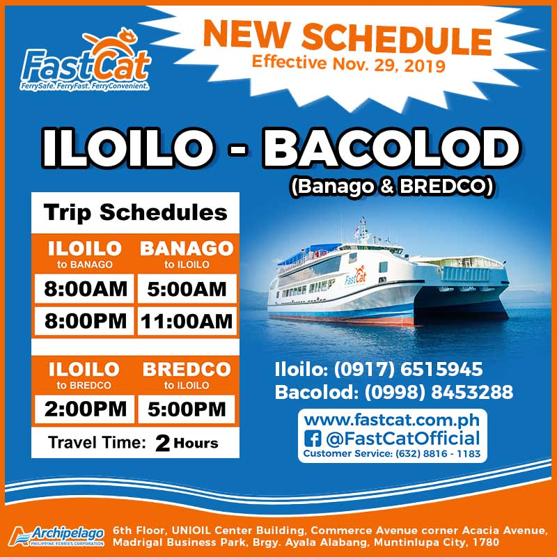 FastCat Iloilo-Bacolod Ferry Schedule