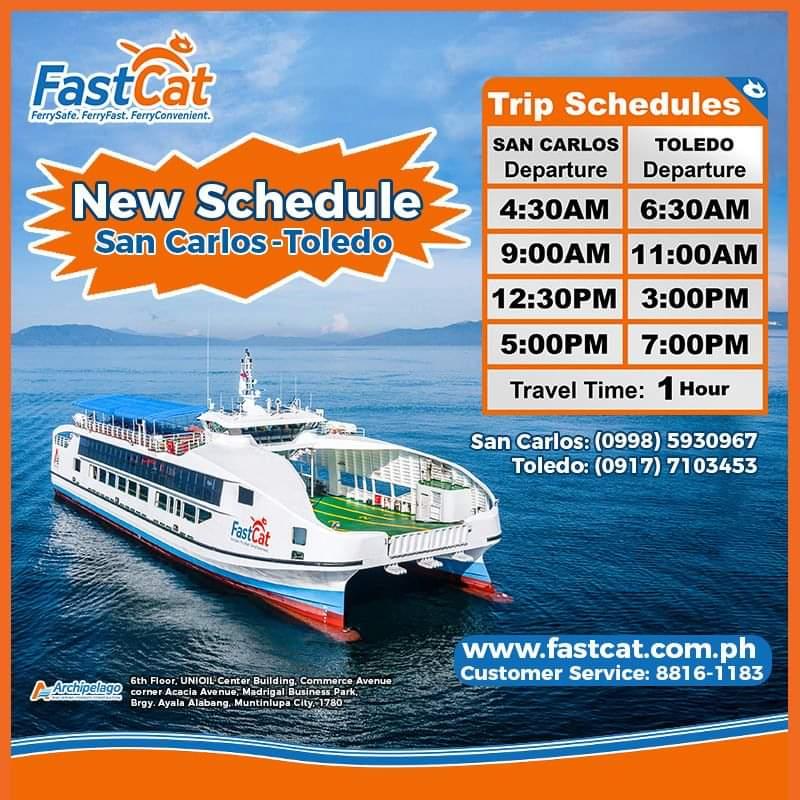 FastCat San Carlos-Toledo Ferry Schedule