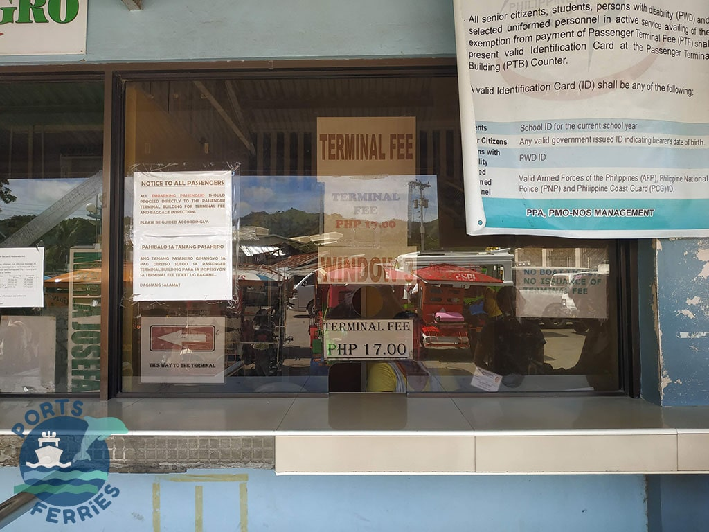 Larena Port Ticketing Window