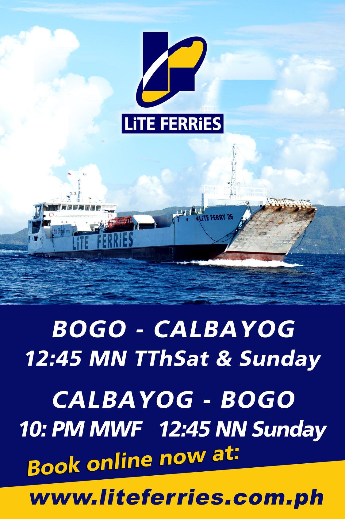 Lite Ferry Bogo-Calbayog Ferry Schedule