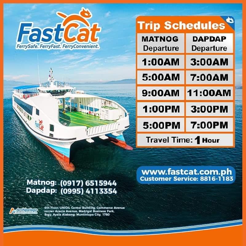FastCat Matnog-Dapdap Ferry Schedule