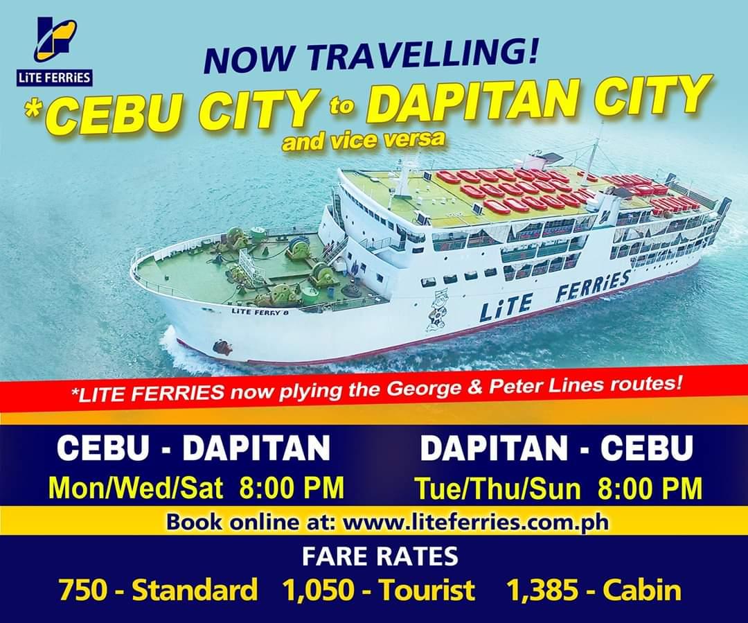 Lite Ferries Cebu-Dapitan Ferry Schedule and Fares
