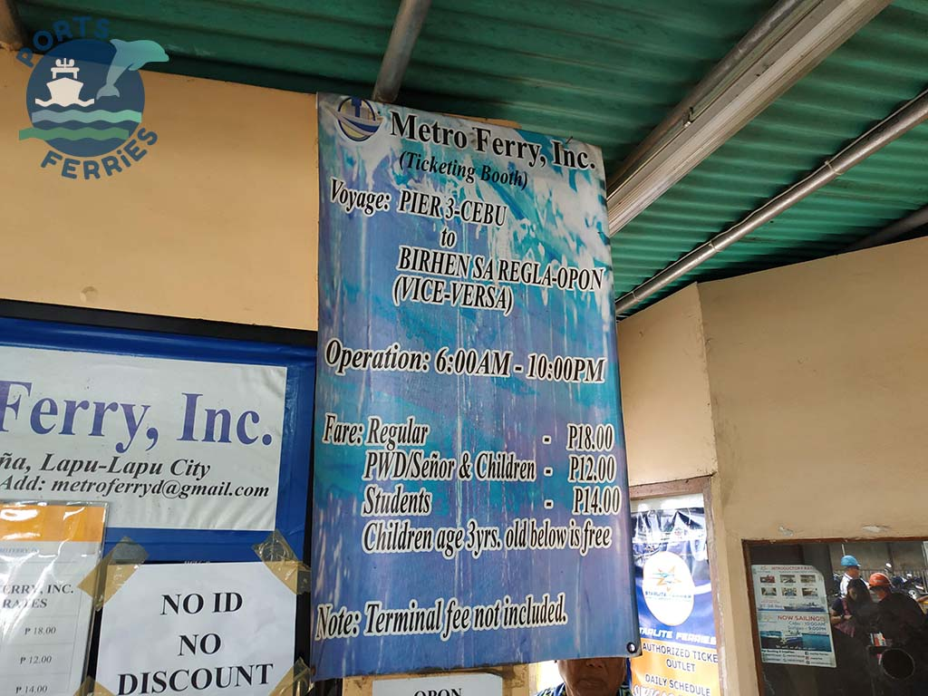 Metro Ferry Cebu-Lapu-Lapu Ferry Schedule and Fares