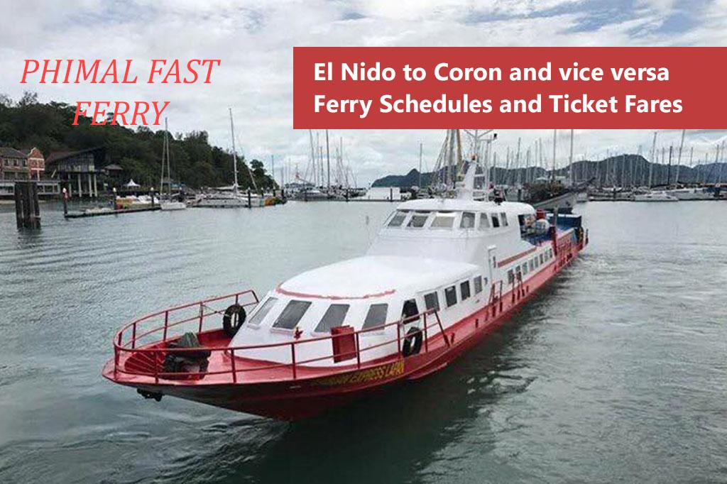 2020 Phimal Fast Ferry El Nido-Coron: Schedule & Fares