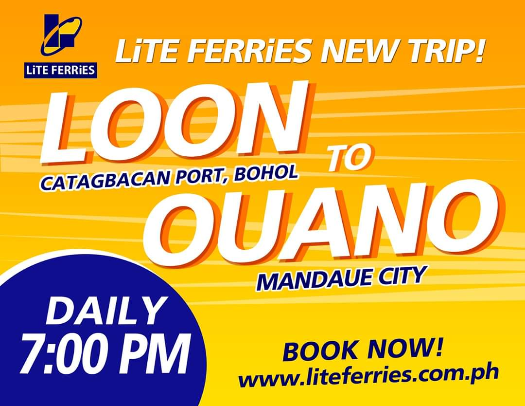 Lite Ferries Loon to Ouano Ferry Schedule