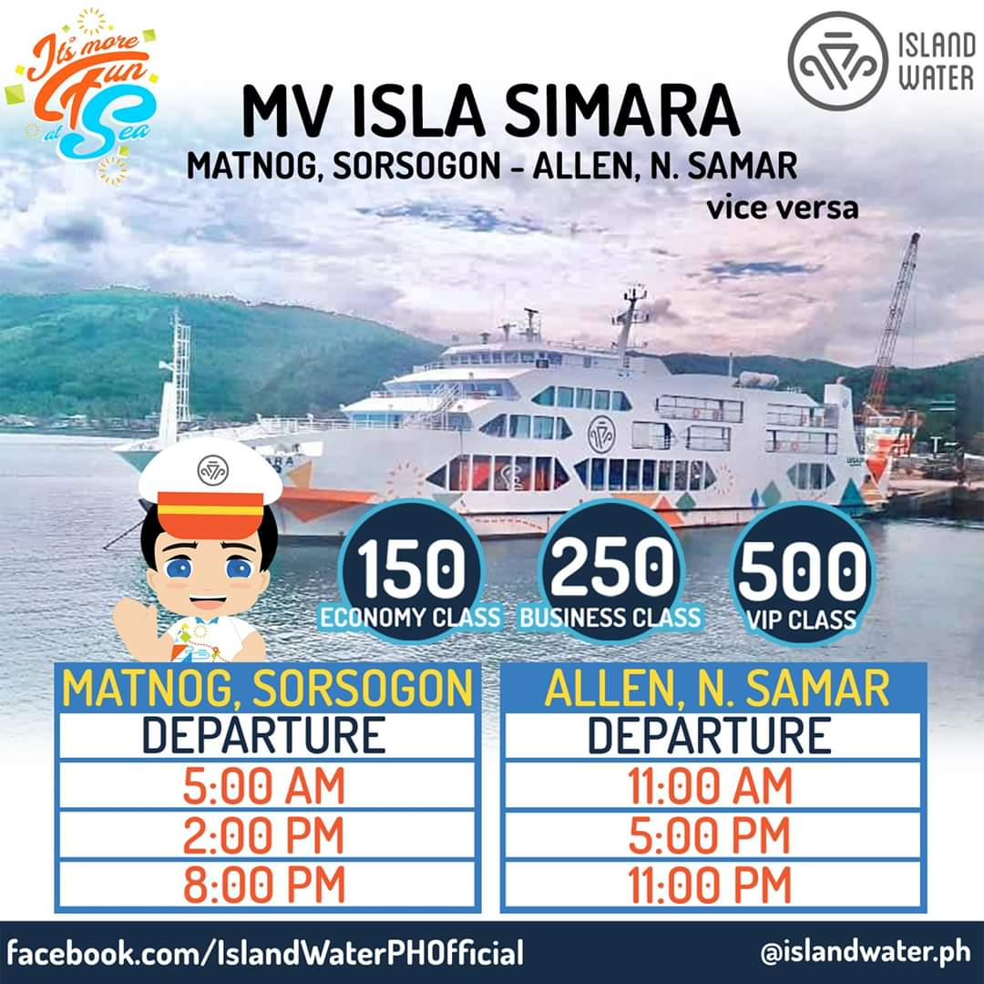 Island Water Matnog-Allen Schedule and Fare Rates