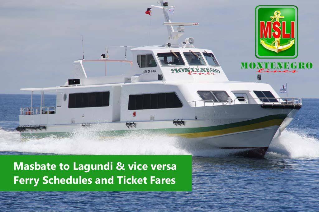 2020 Montenegro Lines Masbate-Lagundi: Schedule & Ticket Fares