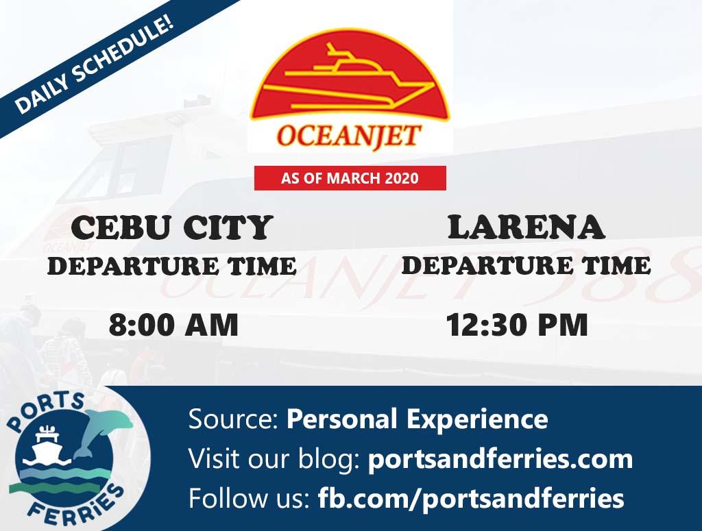 OceanJet Cebu-Larena Ferry Schedules