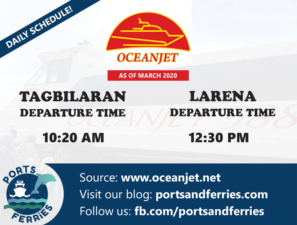 OceanJet Tagbilaran-Larena Ferry Schedules