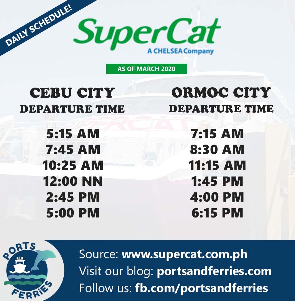 SuperCat Cebu-Ormoc Ferry Schedule