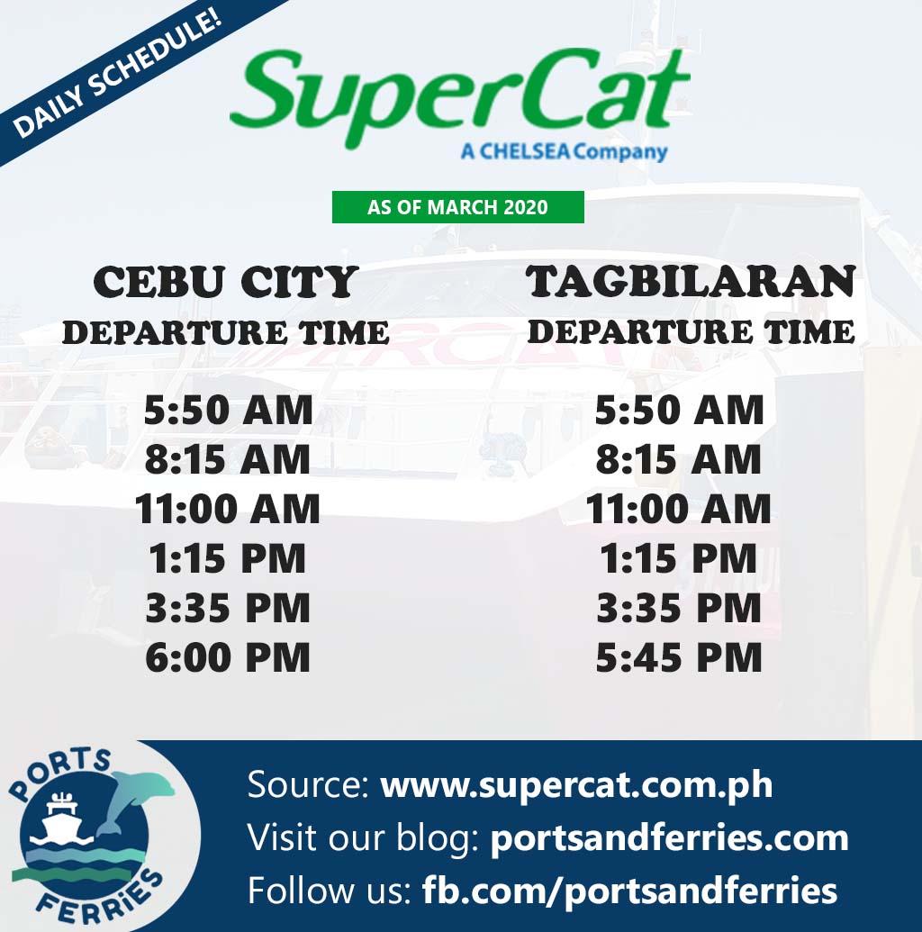 SuperCat Cebu-Tagbilaran Ferry Schedule