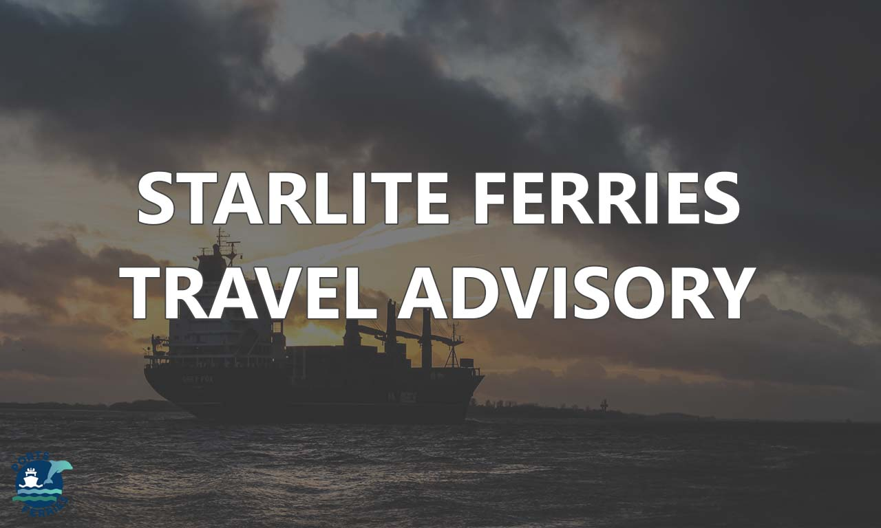 Starlite Ferries Travel Advisory