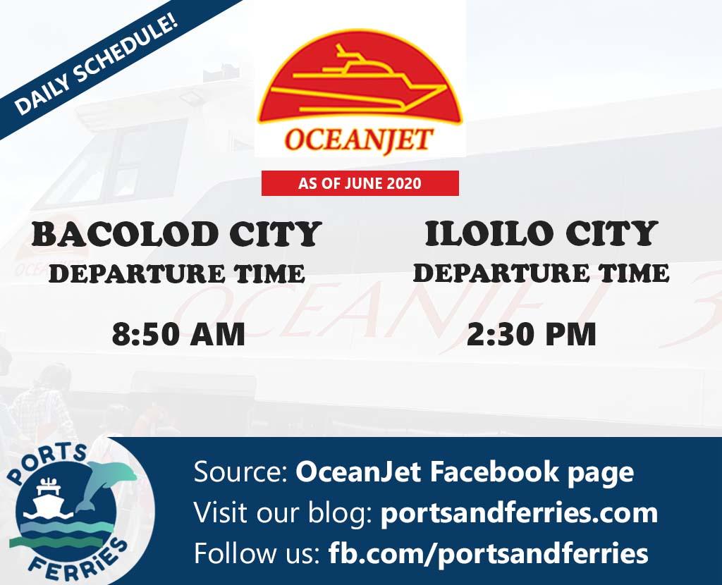 OceanJet Bacolod-Iloilo Ferry Schedule
