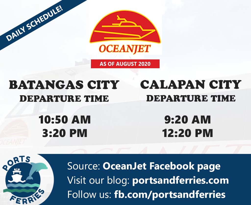 OceanJet Batangas-Calapan Ferry Schedule
