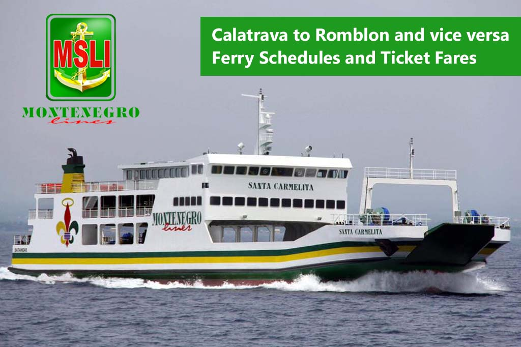 2020 Montenegro Lines Calatrava-Romblon: Schedule, Fare, Travel Time